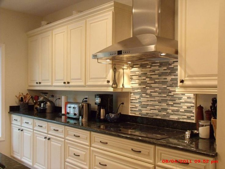 Painted Kitchen Cabinets. Love Creamy White And Charcoal Gray ...
